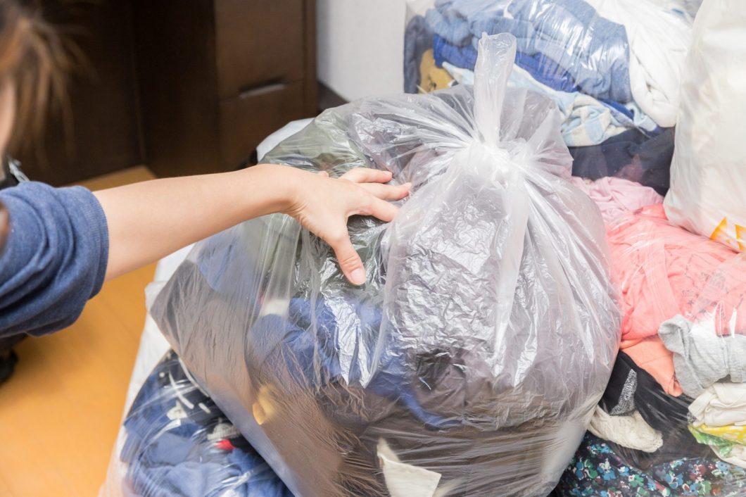 ゴミがたくさん入ったゴミ袋