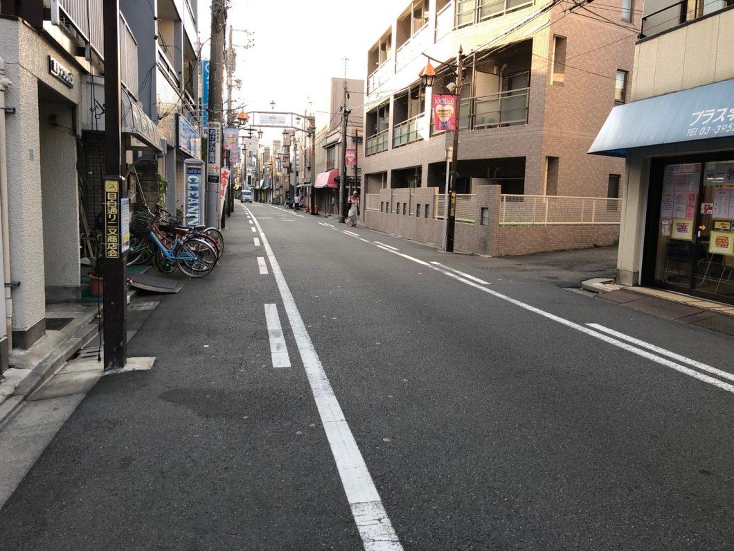 人通りが少ない道