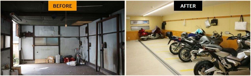 バイクガレージ活用事例