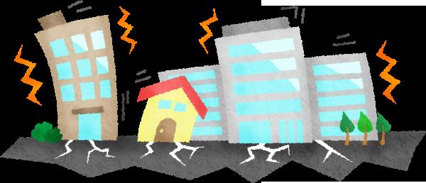 地震で家が揺れる様子