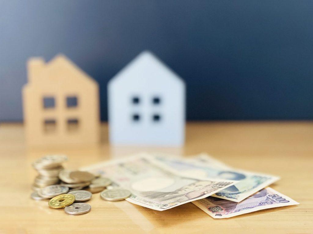 お金の背景に家